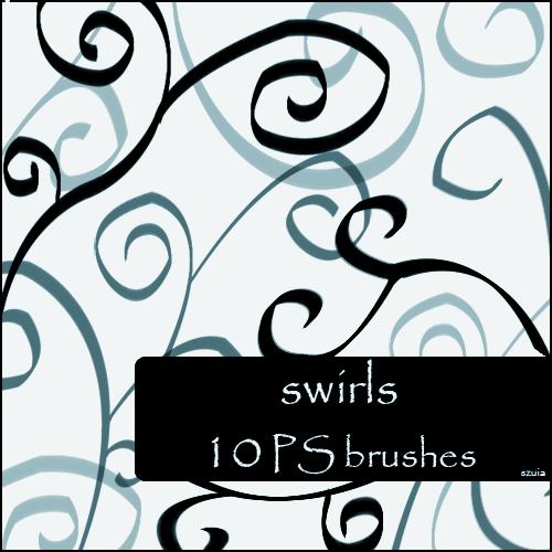 10种手绘涂鸦线条艺术纹理Photoshop笔刷下载