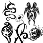 部落风格的纹身刺青图案Photoshop笔刷下载