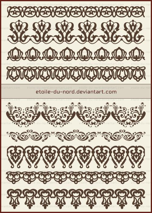 欧式贵族印花图案Photoshop富贵印花笔刷素材