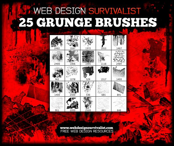 25种破坏者墙壁纹理图案PS笔刷下载
