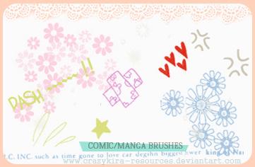 可爱小花朵图案花纹PS笔刷素材免费下载