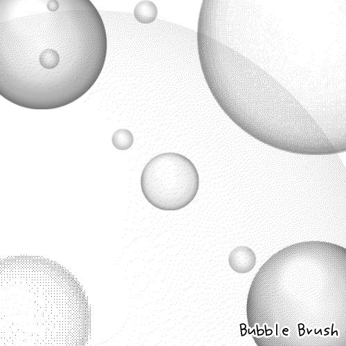 背景泡泡、圆圈图案Photoshop笔刷下载