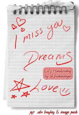 恋爱中的涂鸦笔记PS情书笔刷