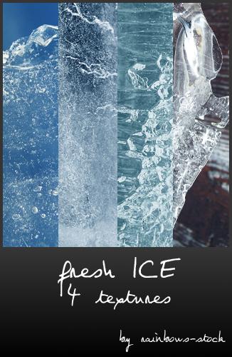 结冰、冰层纹理效果PS笔刷下载(JPG格式素材)