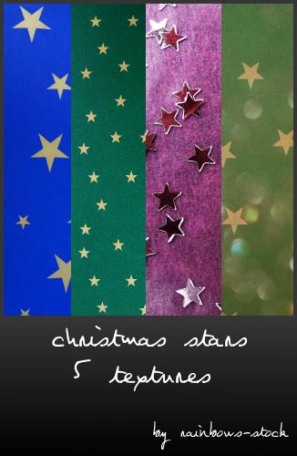 5种圣诞节星星背景装饰PS笔刷素材(JPG图片格式)