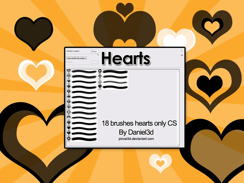 爱心、心形、红桃心图案Photoshop笔刷下载