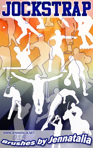 体育运动员轮廓剪影Photoshop人像剪影笔刷素材