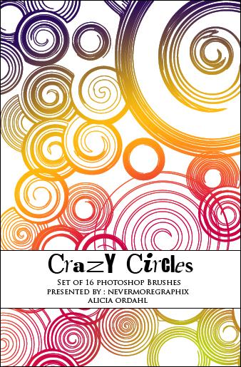 疯狂的同心圆叠加背景装饰图案Photoshop笔刷素材下载
