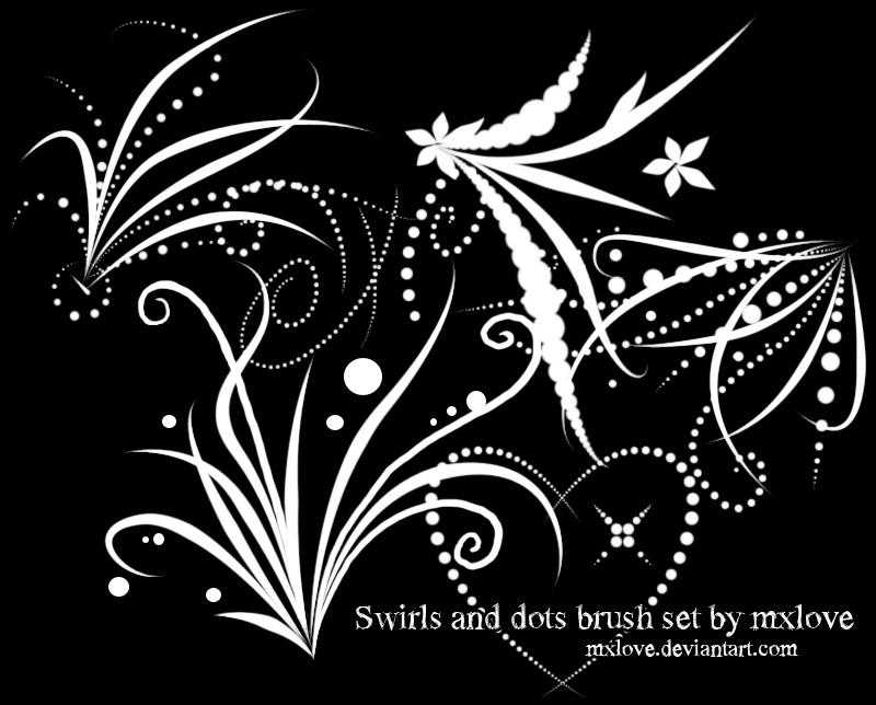 漂亮的艺术艺术线条花纹图案Photoshop花草印花笔刷