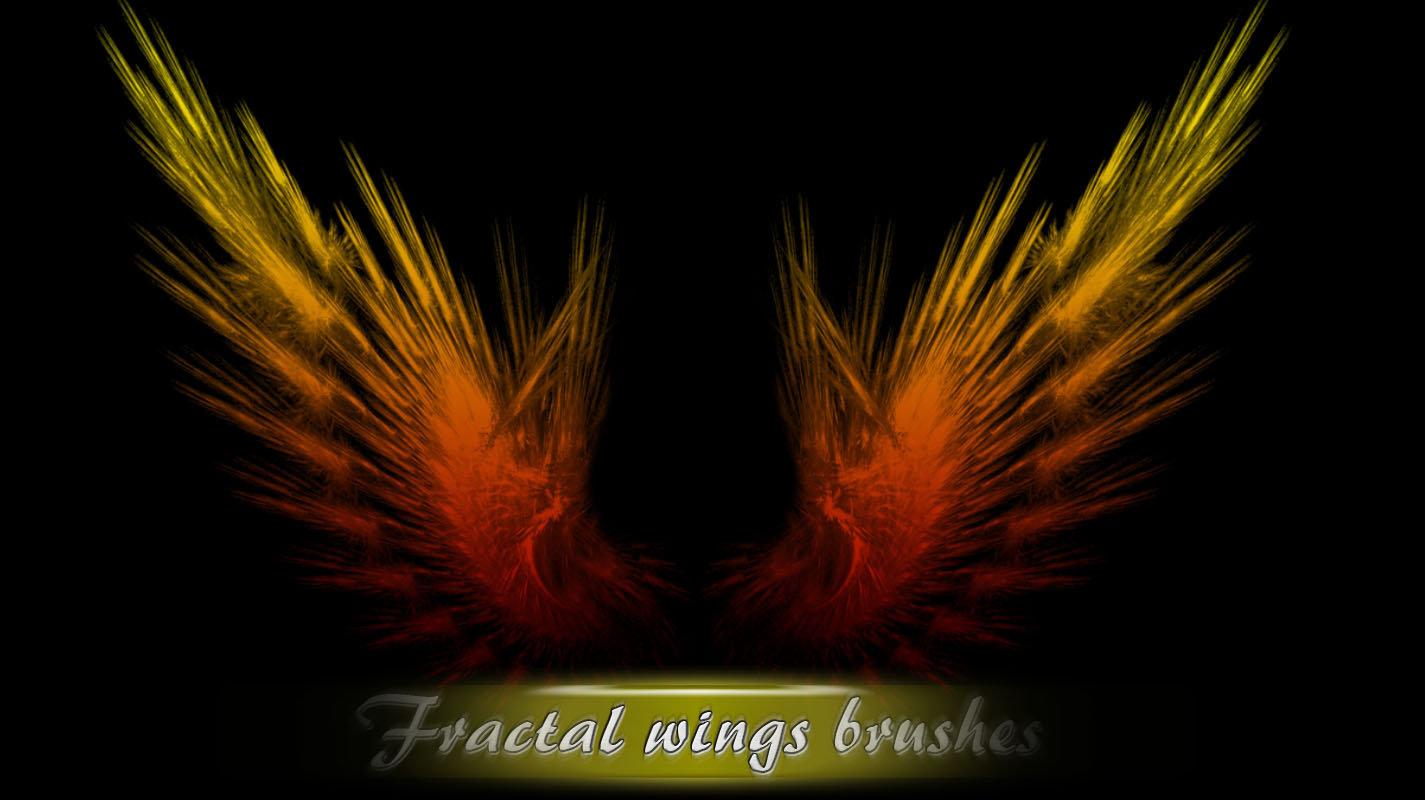 超酷、魔幻、光影特效之自由之翼Photoshop翅膀笔刷素材下载