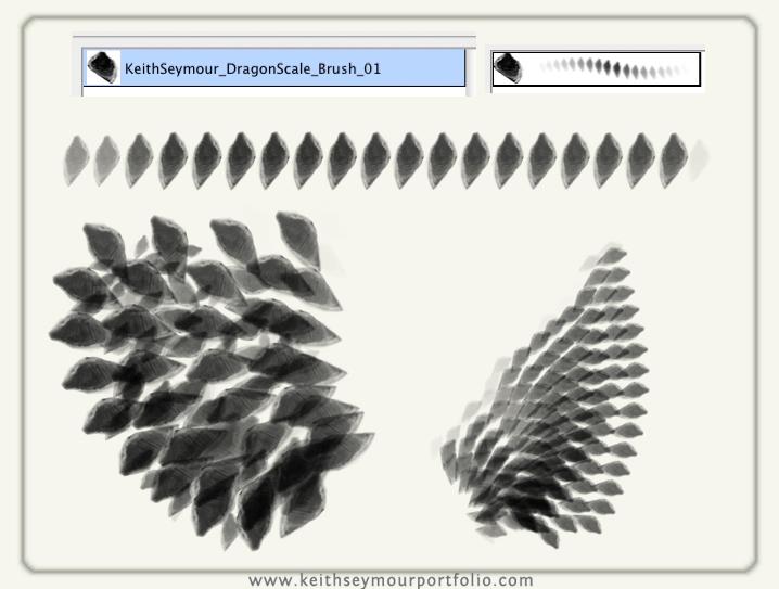 龙鳞、鳞片、鳞甲纹理图案Photoshop笔刷下载