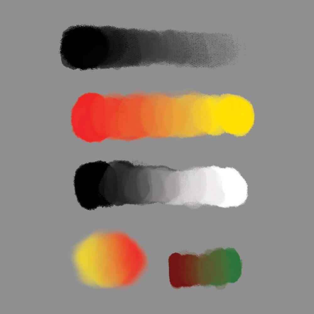 染料、颜料风格式水墨笔触Photoshop笔刷素材下载