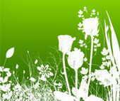 漂亮的植物花朵图案印花笔刷PS素材免费下载
