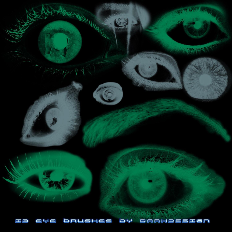 诡异眼睛、瞳孔素材PS笔刷下载