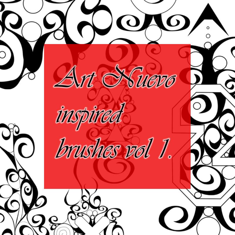 涂鸦式风格的手绘印花笔刷PS素材下载