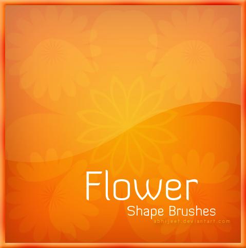 漂亮的太阳花朵图案Photoshop印花笔刷下载