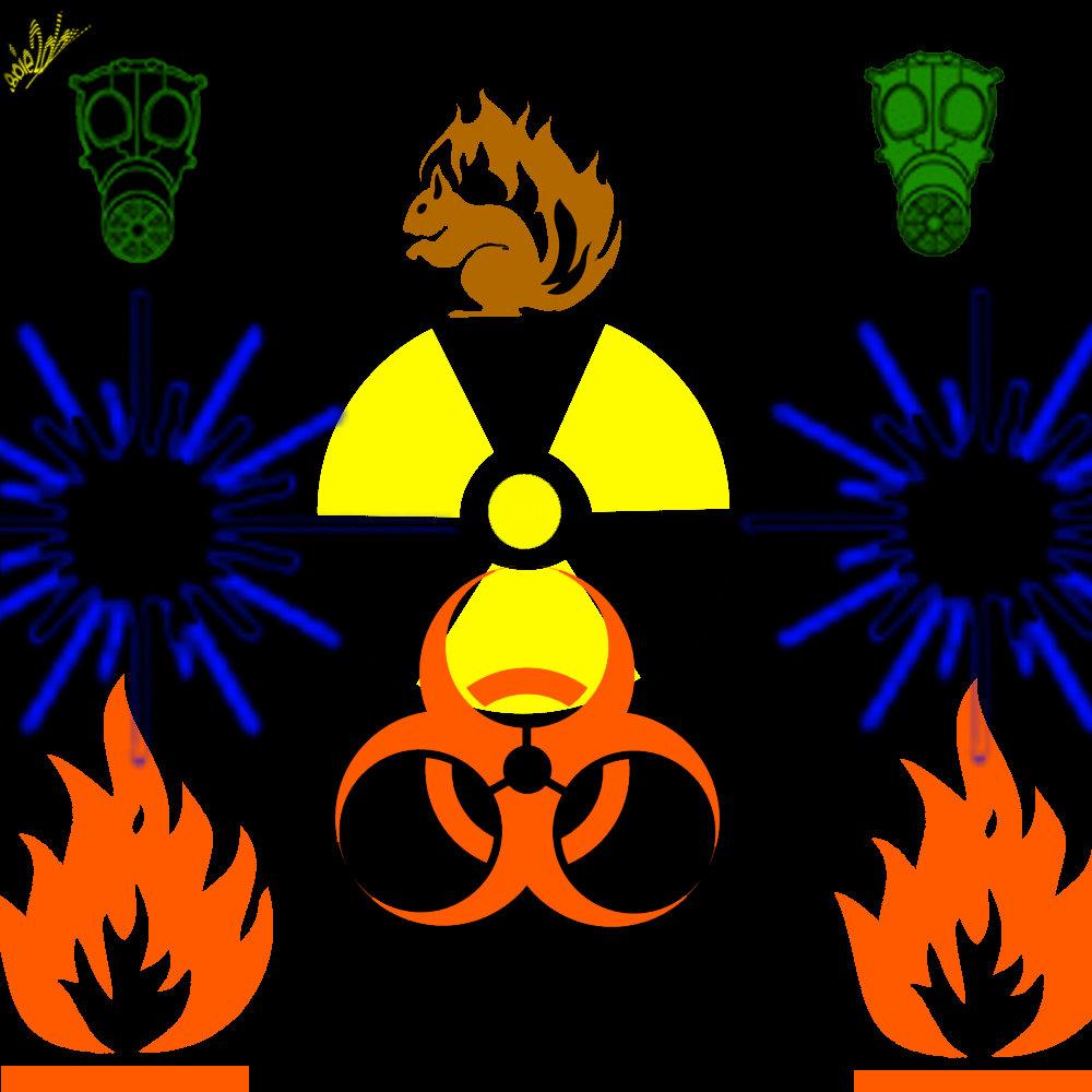 核辐射、火灾等符号标志PS笔刷素材下载