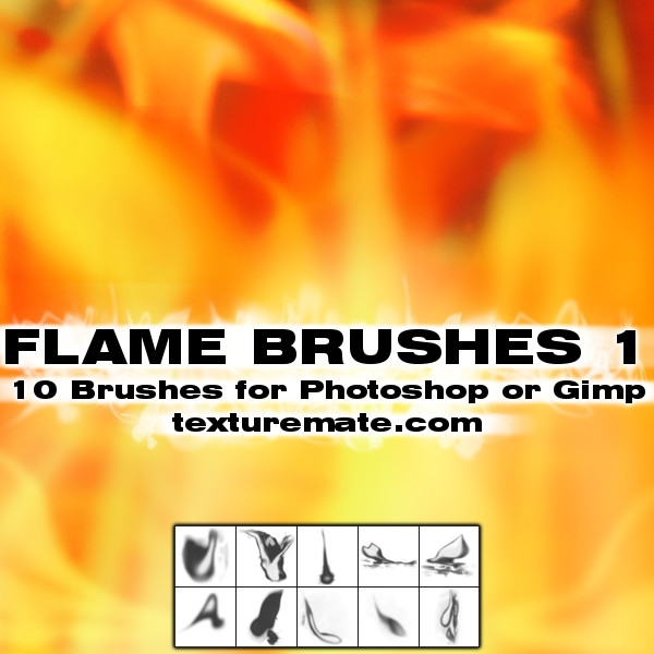 灼烧、火焰光芒图案Photoshop笔刷下载