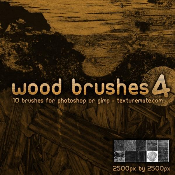 树木、木材横切纹理Photoshop笔刷素材下载