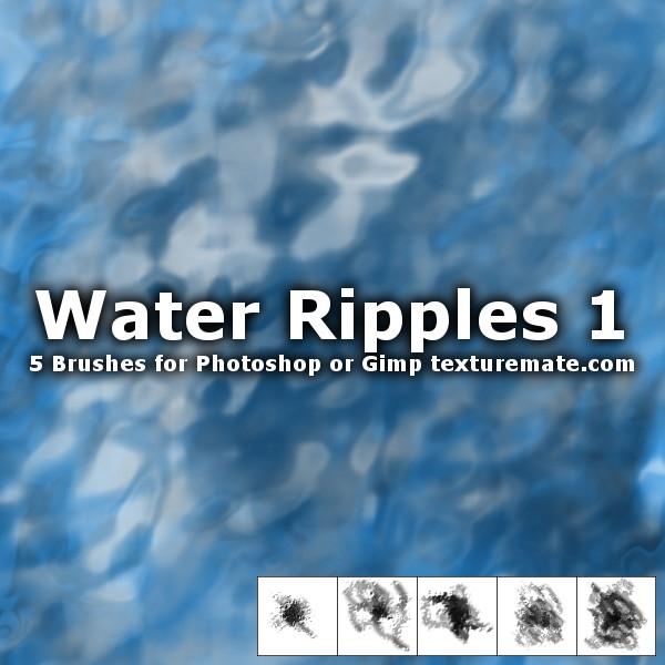 水波嶙峋、水面纹理Photoshop纹理笔刷下载