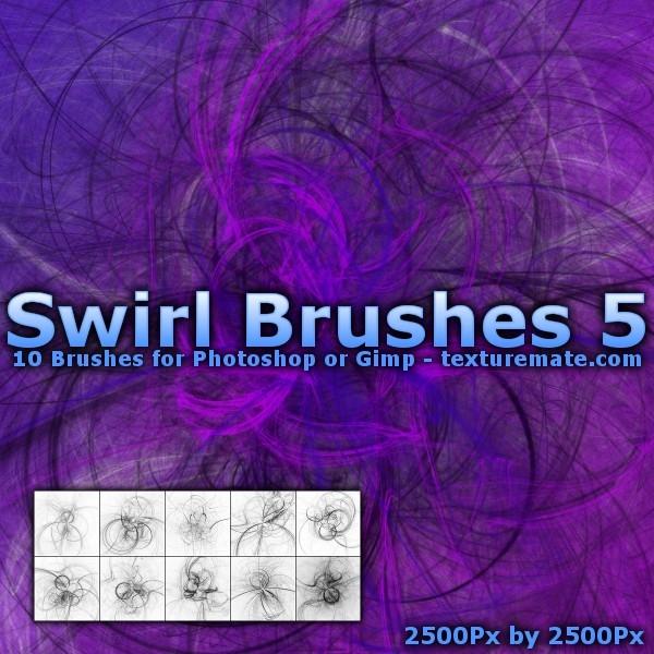 10种混乱光影线条旋转图案Photoshop笔刷下载