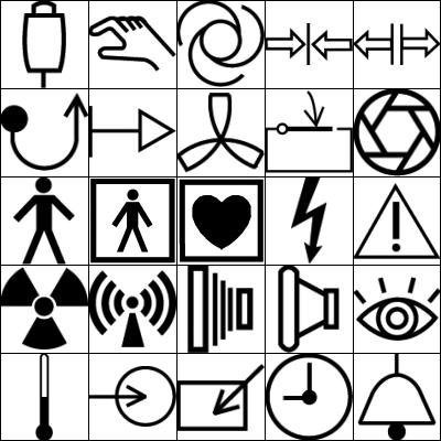 25种生活标志符号图案Photoshop笔刷下载