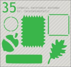 35种边框、几何图形、叶子、松果等图形Photoshop素材下载