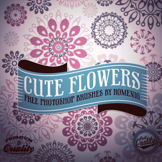 漂亮的矢量风格的印花花纹图案Photoshop笔刷下载