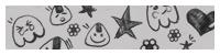 可爱童趣涂鸦卡通装扮Photoshop笔刷下载