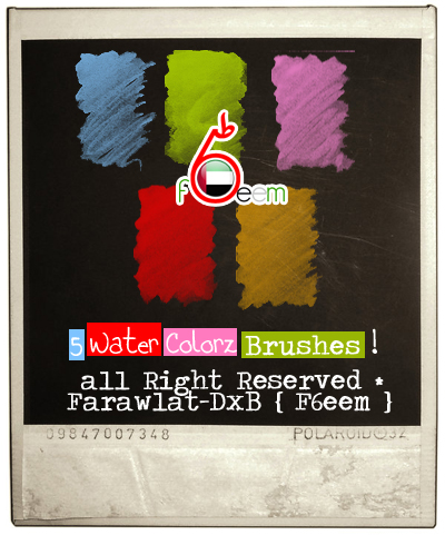 5种水墨、水彩、水粉笔触风格的Photoshop笔刷下载