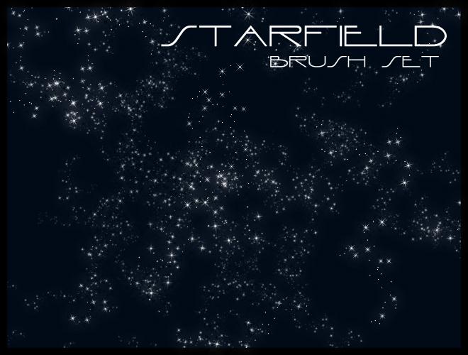 浩瀚星空背景、银河系背景效果Photoshop笔刷下载