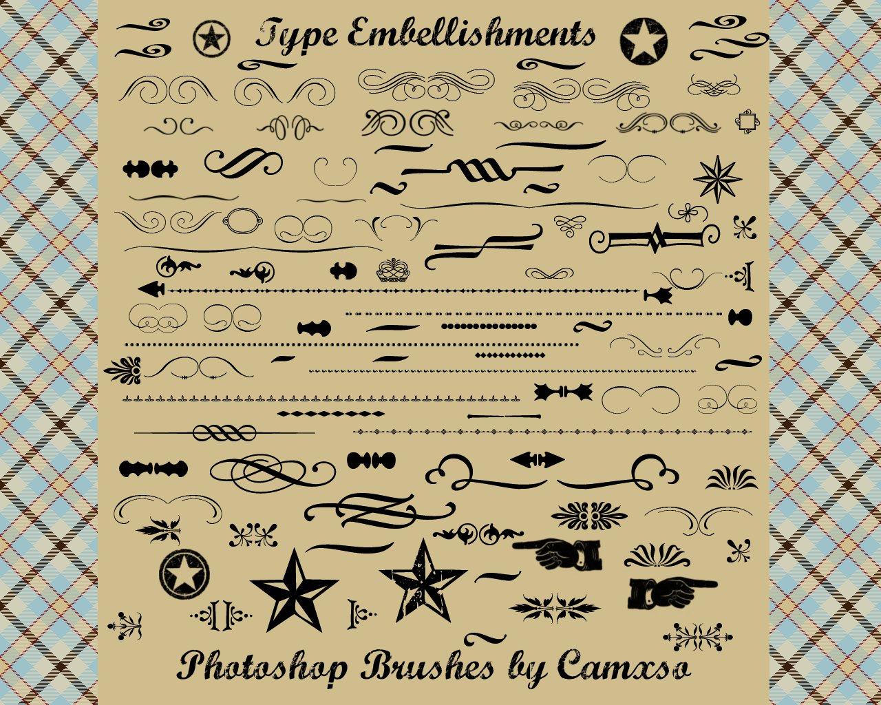 各种欧式印花装饰、边框纹理图案Photoshop花纹装饰笔刷