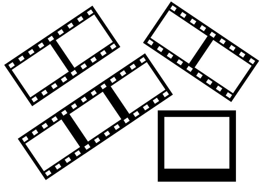 电影胶片、黑白胶卷背景风格Photoshop胶片图形笔刷