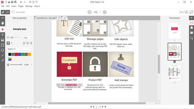 免费全能的PFD文件编辑软件 - Icecream PDF Editor(编辑、水印、加密、文档分割和合并)