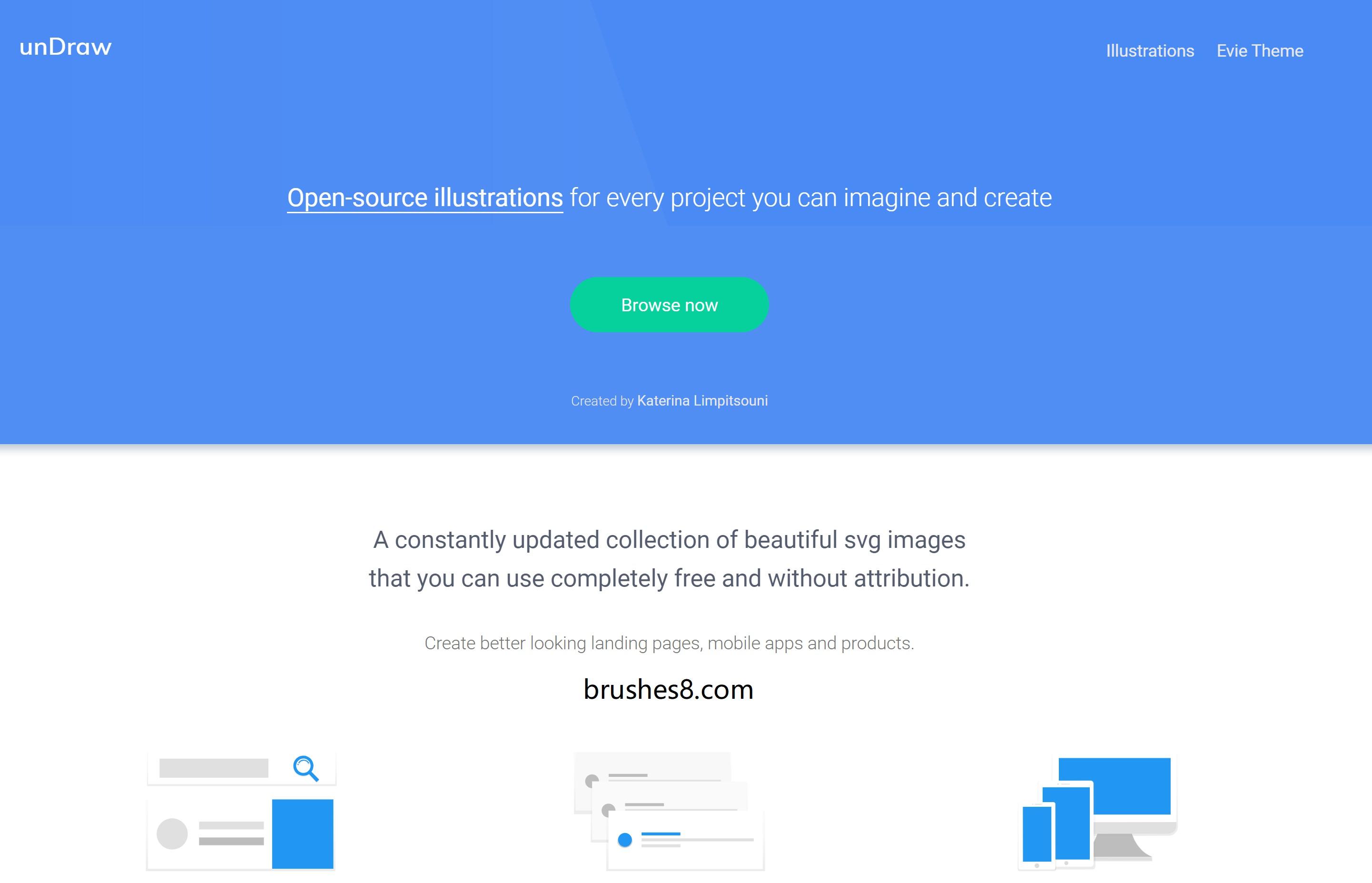 可自定义配色、可免费商用的矢量插图下载网站 - undraw