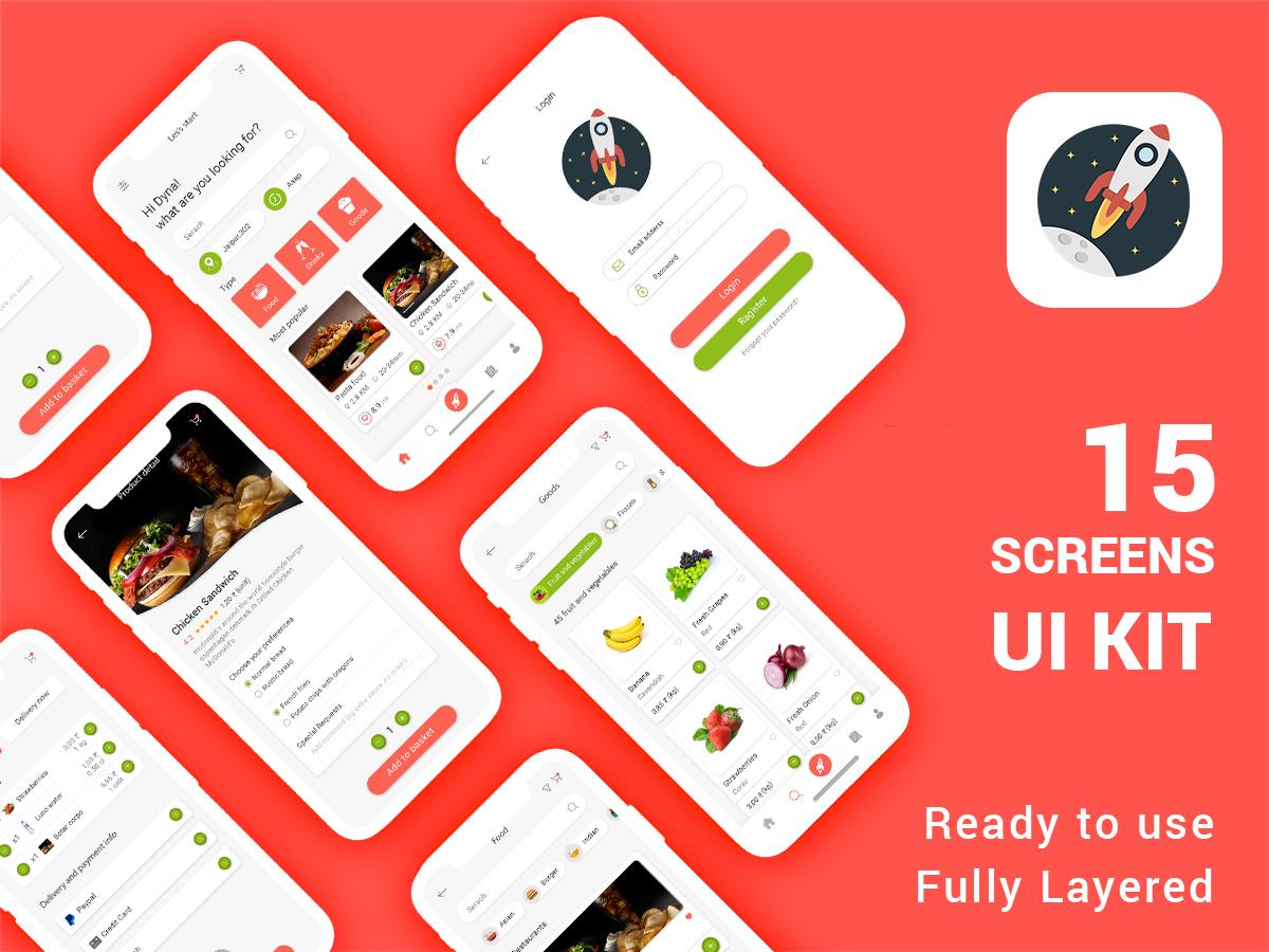 美食主题、餐厅UI APP 模板PSD源文件下载