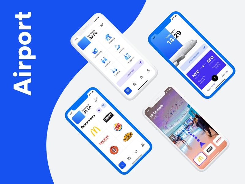 机场、航班类 App UI 模板素材 - Sketch 设计素材