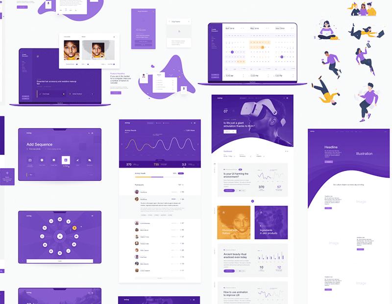 一整套商业主题网页模板 - Sketch 设计素材