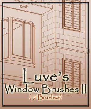 建筑结构图、外墙施工效果图Photoshop笔刷下载