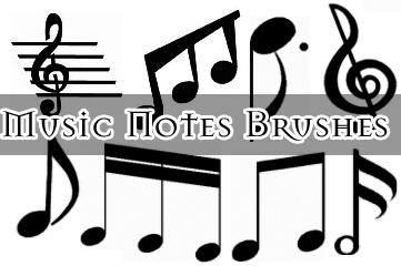 音符、乐符号、五线谱图案PS笔刷素材下载