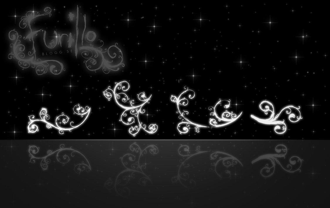 漩涡状涂鸦艺术花纹、印花图案Photoshop笔刷下载