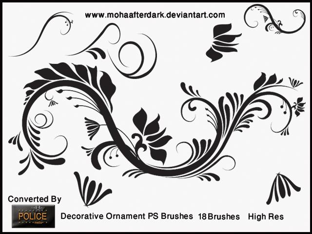 优雅的印花装饰图案素材Photoshop笔刷下载