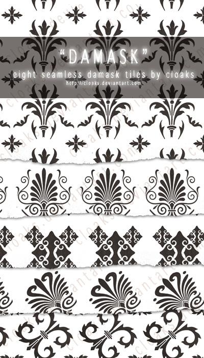 漂亮的欧式印花图案PS笔刷素材下载(JPG格式素材)