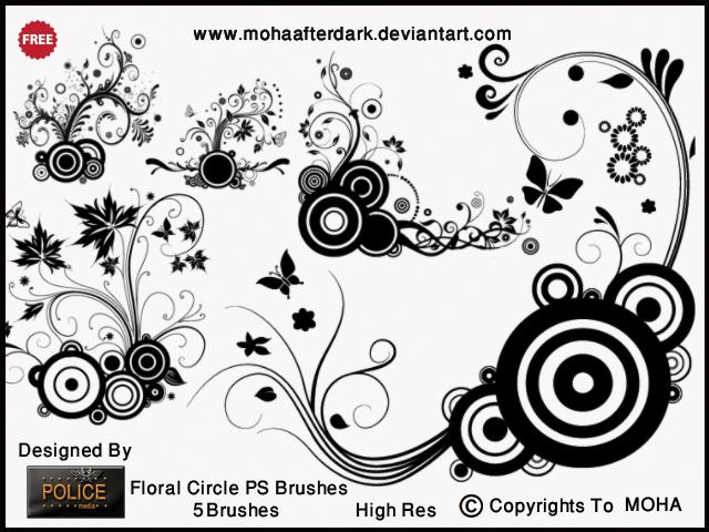 漂亮的时尚艺术花纹PS笔刷素材免费下载
