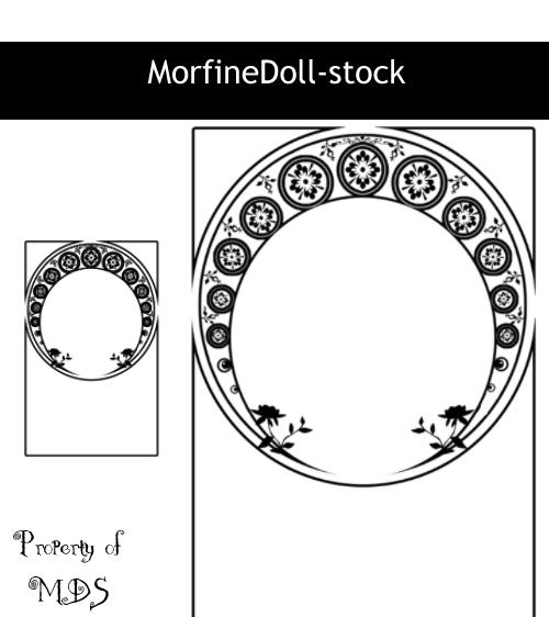 月亮式印花图案、月半弯花纹图案PS笔刷下载
