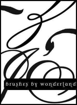 涂鸦式线条印花PS笔刷素材免费下载