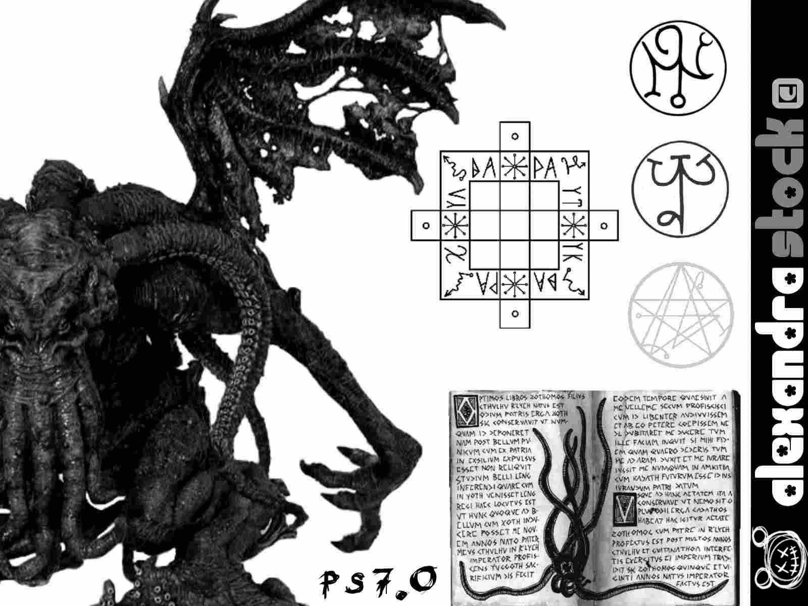 恶魔、魔鬼符文标记PS笔刷素材下载