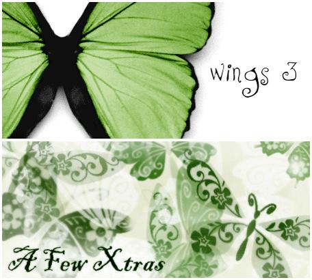 蝴蝶艺术花纹图案、精美蝴蝶印花PS笔刷素材下载