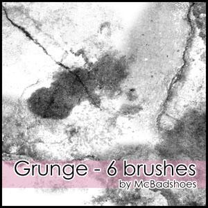 6种油漆污渍效果纹理、污迹背景图案PS笔刷素材下载