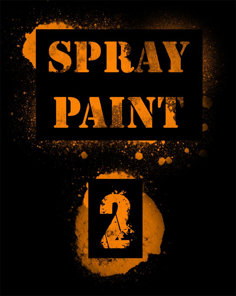 高清油漆喷漆效果纹理PS笔刷免费下载